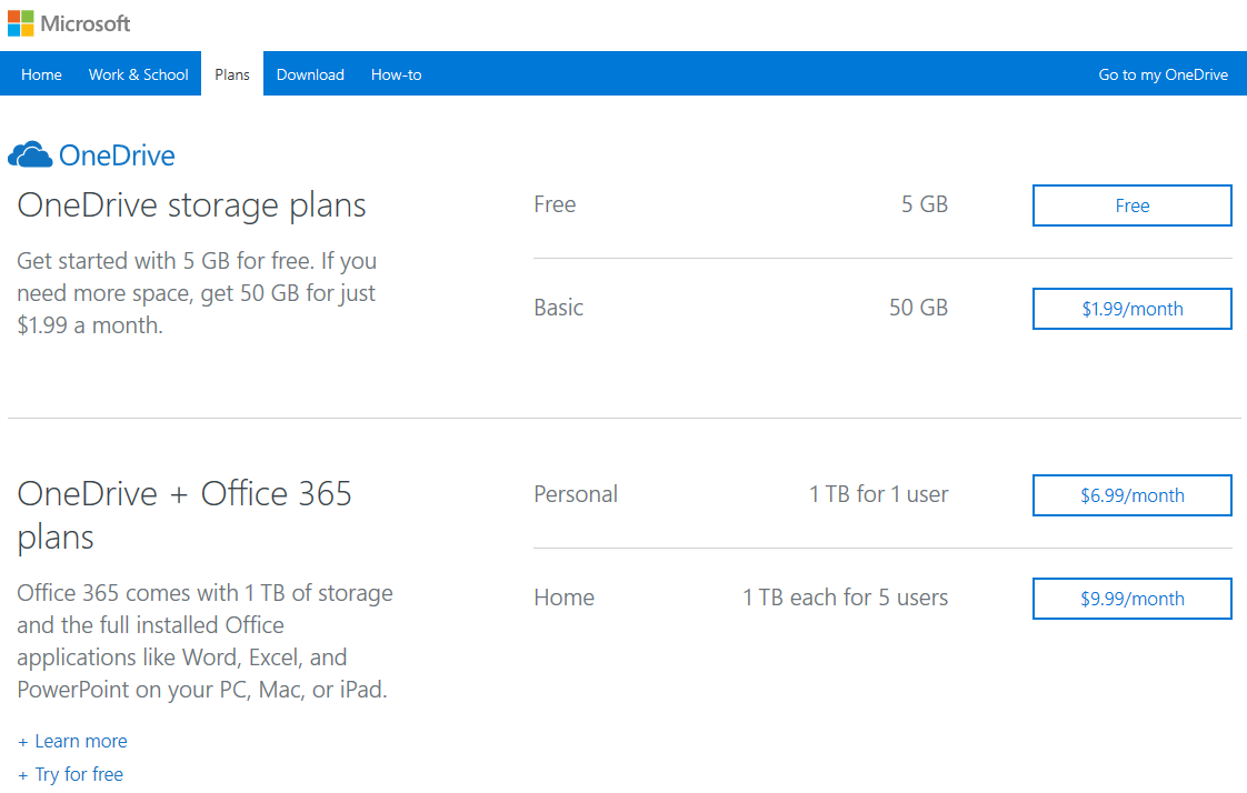 OneDrive offers 1TB plan for $60/year – Noobient